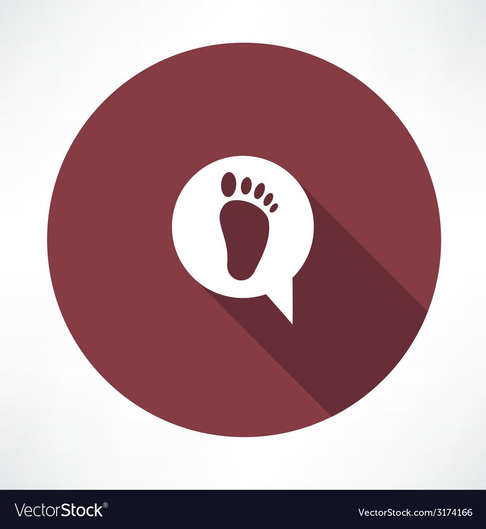 Footprint icon vector | Price: 1 Credit (USD $1)