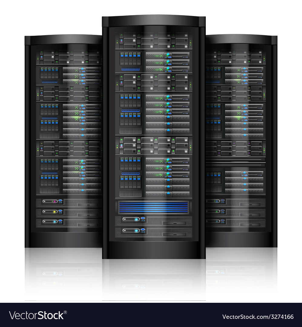 Network servers isolated vector | Price: 1 Credit (USD $1)