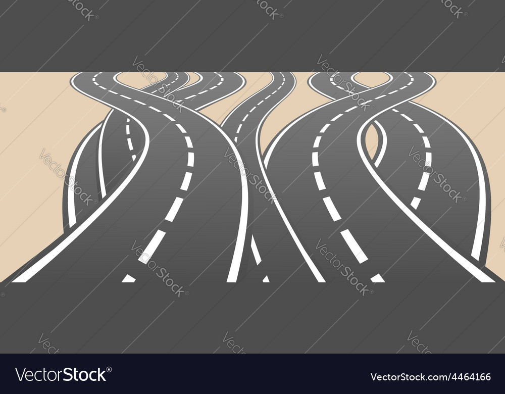 Roads overcrossing vector | Price: 1 Credit (USD $1)