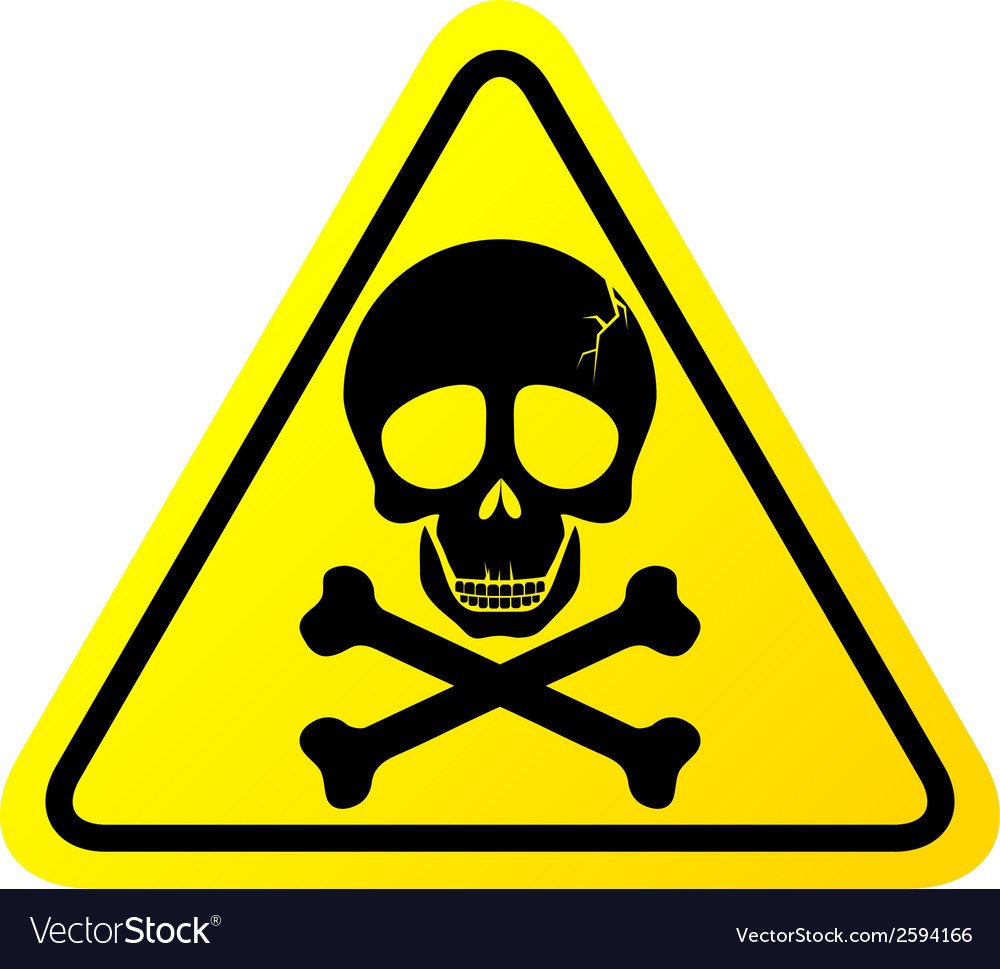 Skull danger sign vector | Price: 1 Credit (USD $1)