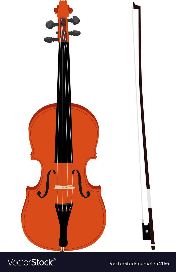 Violin with fiddlestick vector | Price: 1 Credit (USD $1)