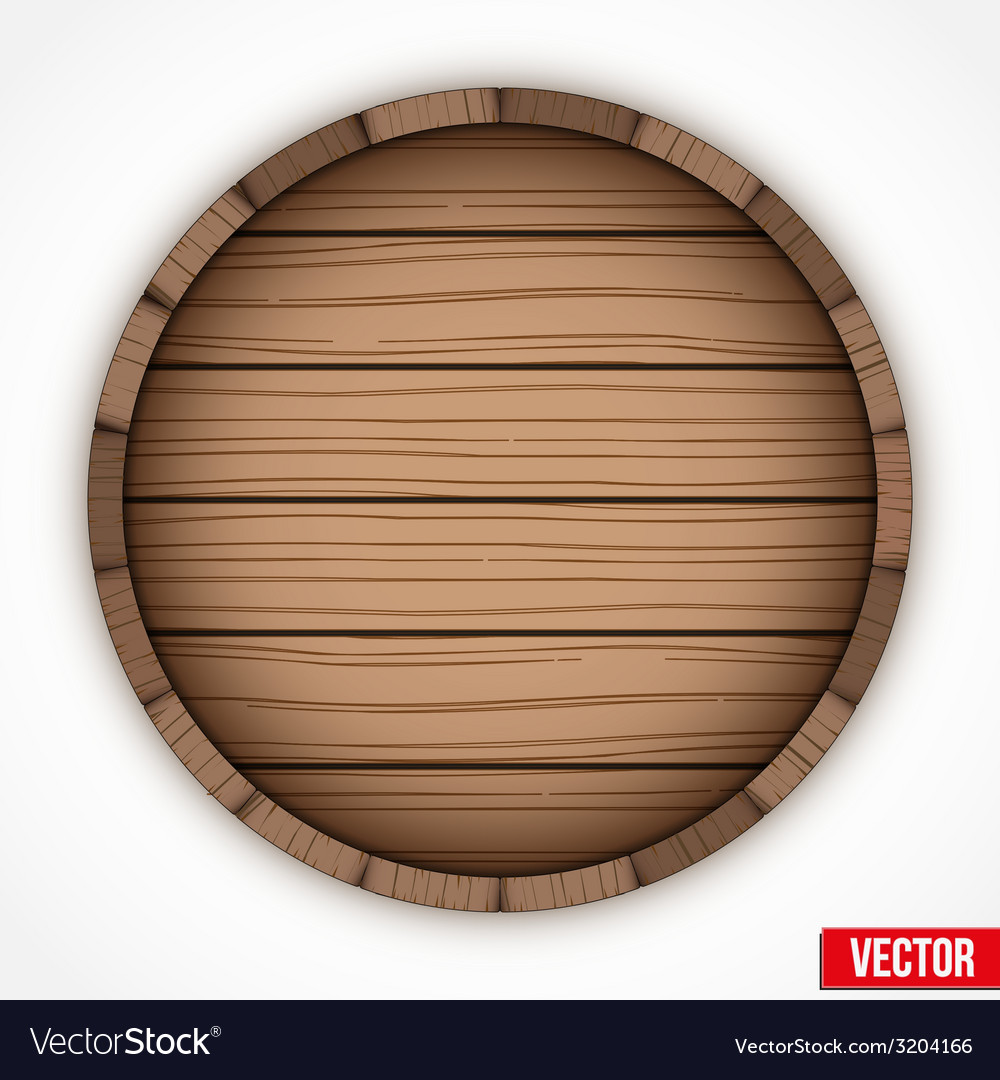 Wooden cask for alcohol drinks emblem vector | Price: 1 Credit (USD $1)
