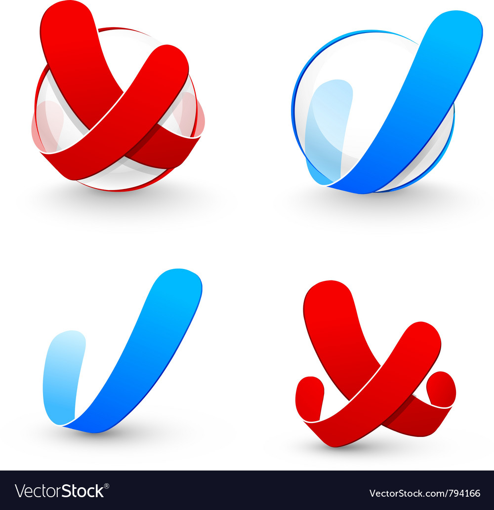 Yes and no symbol vector | Price: 1 Credit (USD $1)