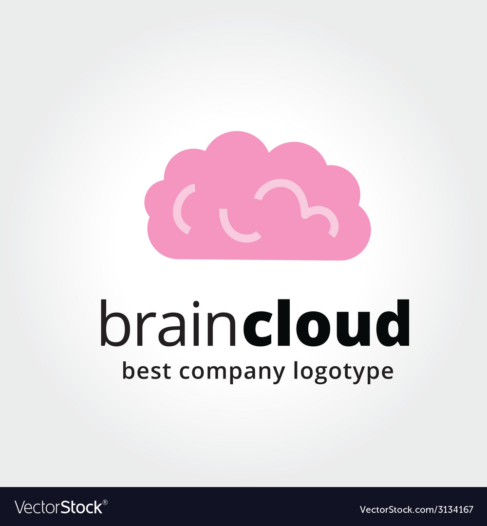 Abstract brain logotype concept isolated on white vector | Price: 1 Credit (USD $1)