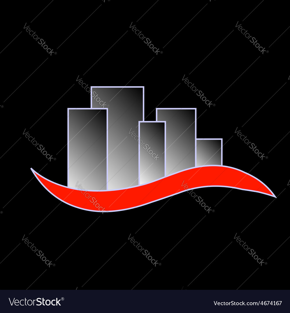 Abstract skyscrapers- logo for real estate vector | Price: 1 Credit (USD $1)