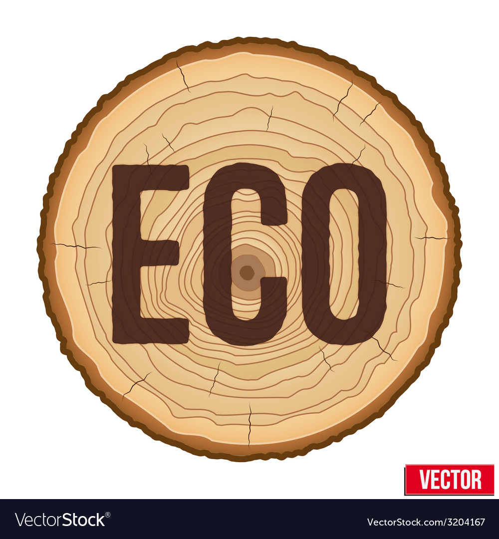 Cross section of tree trunk with scorched vector | Price: 1 Credit (USD $1)