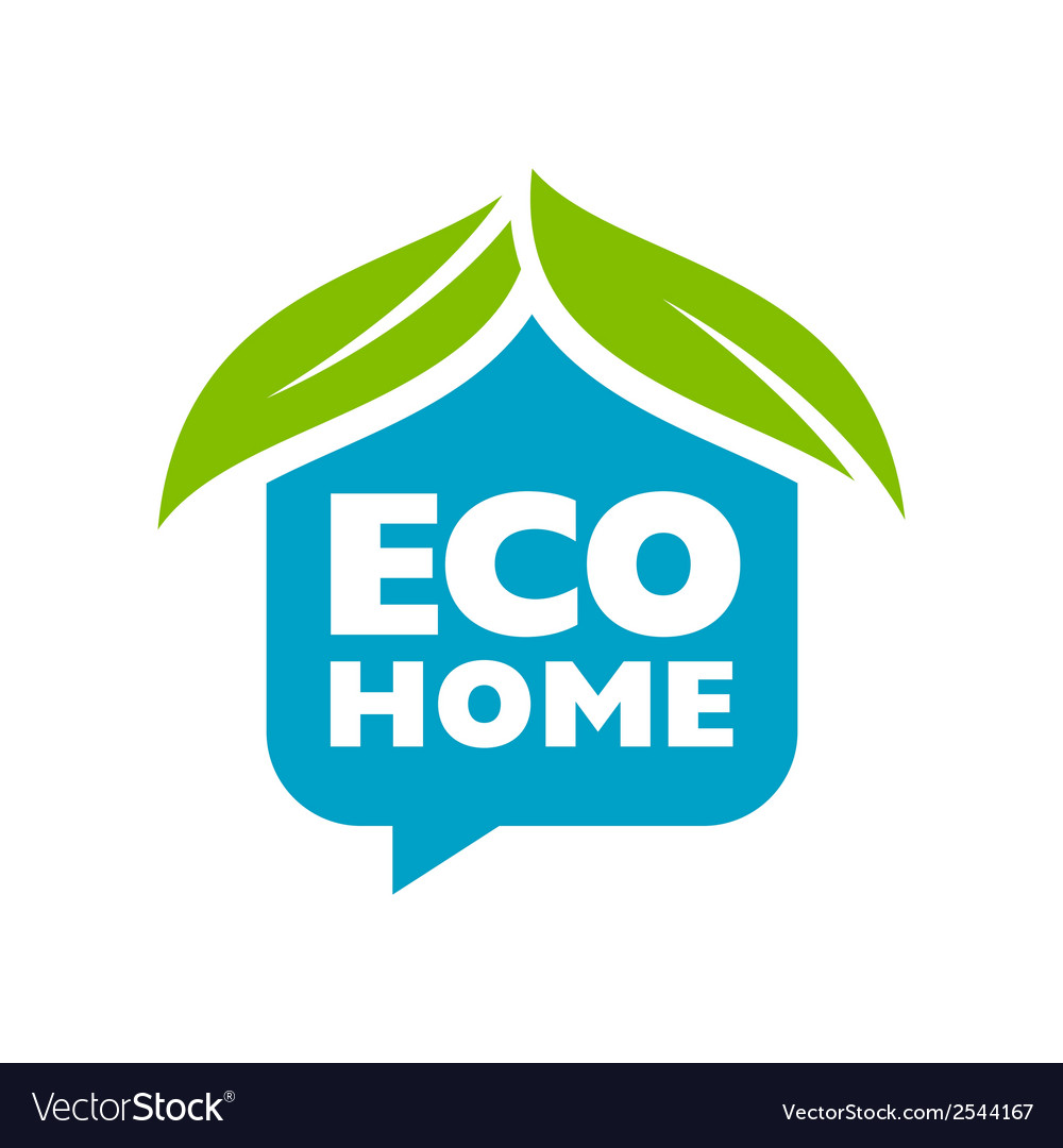 Eco home sign vector | Price: 1 Credit (USD $1)