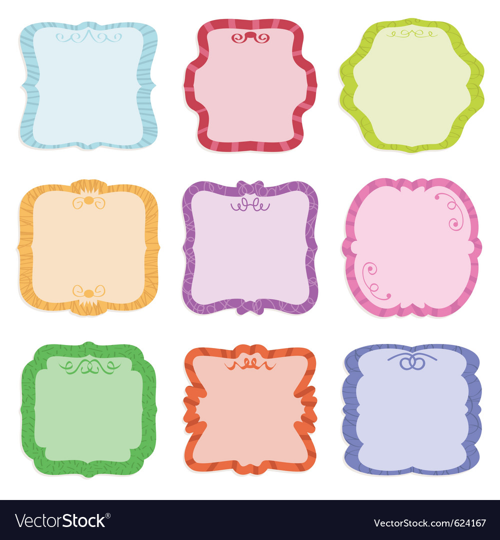 Label decorations vector | Price: 1 Credit (USD $1)