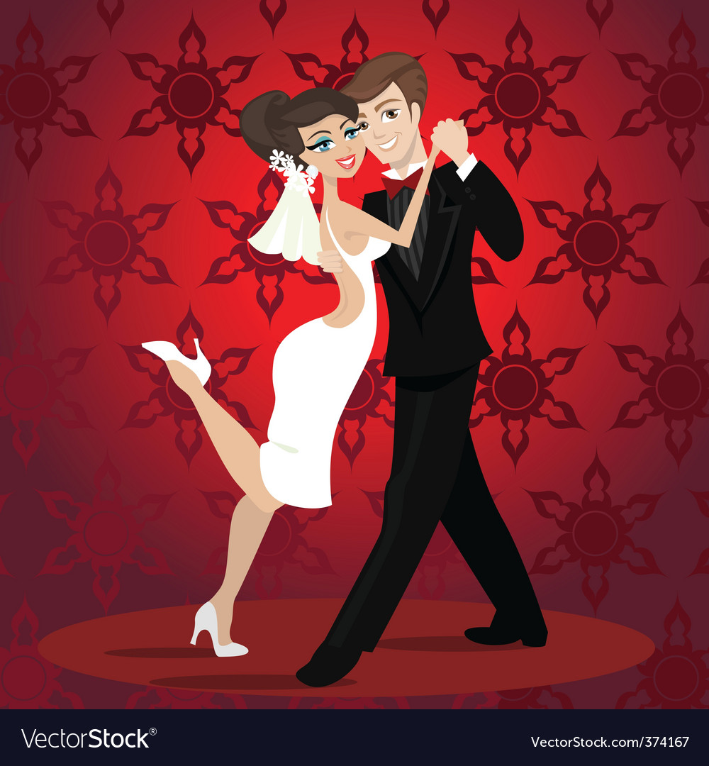 Love dance vector | Price: 1 Credit (USD $1)