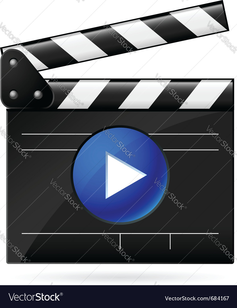 Open movie clapboard on white background vector | Price: 1 Credit (USD $1)