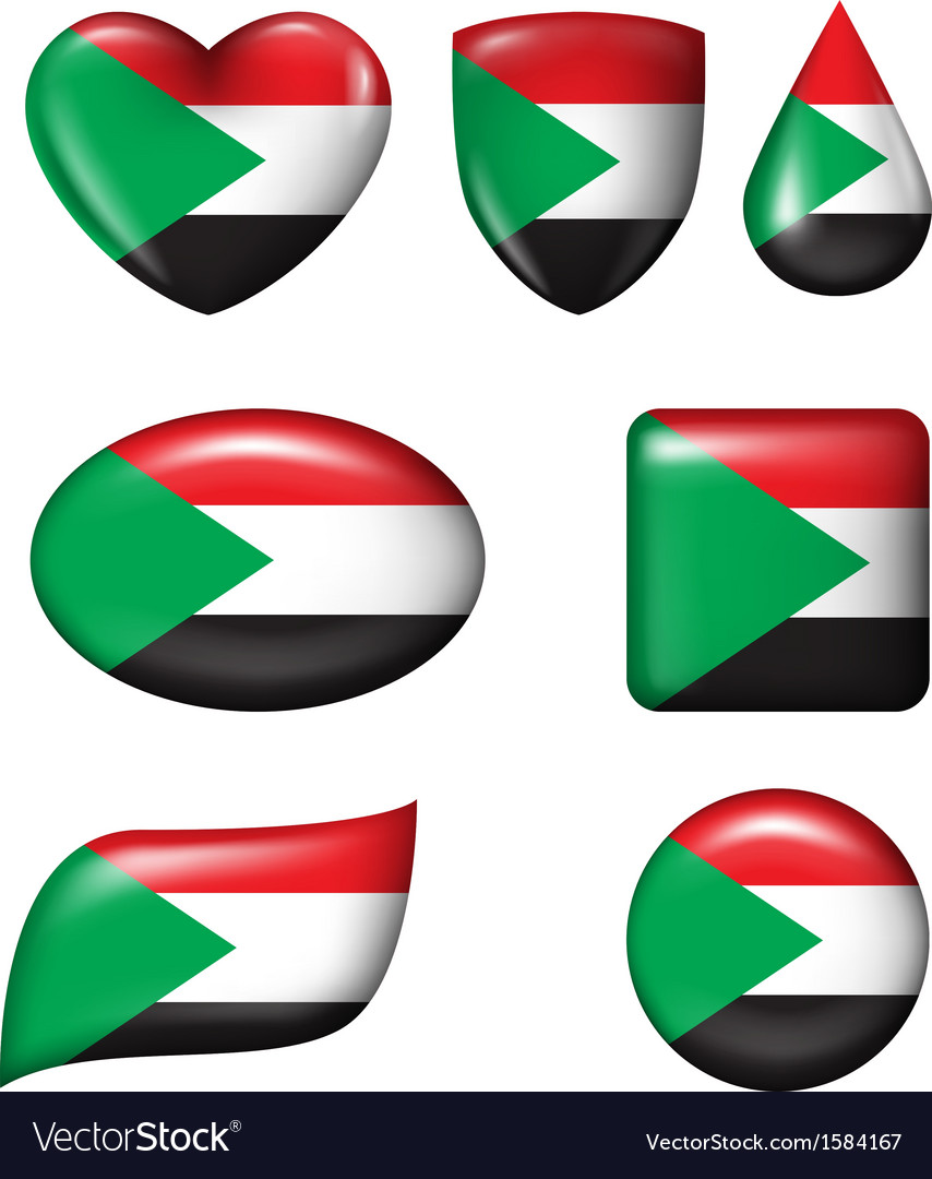 Palestine flag in various shape glossy button vector | Price: 1 Credit (USD $1)
