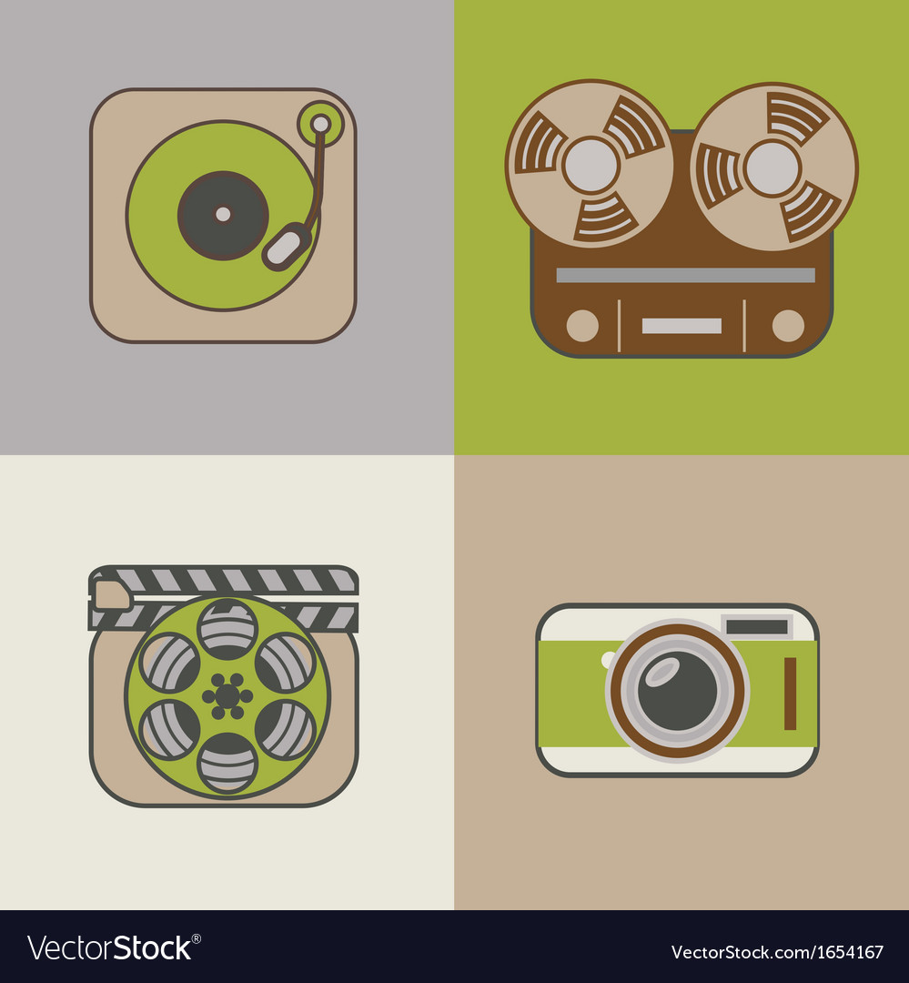 Retro flat arts icon vector | Price: 1 Credit (USD $1)