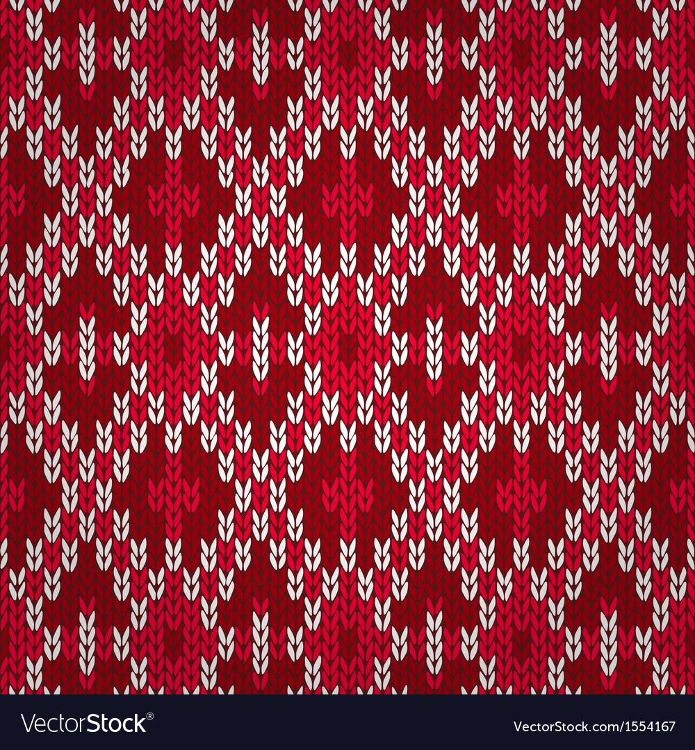 Seamless christmas red knitted pattern style knit vector | Price: 1 Credit (USD $1)