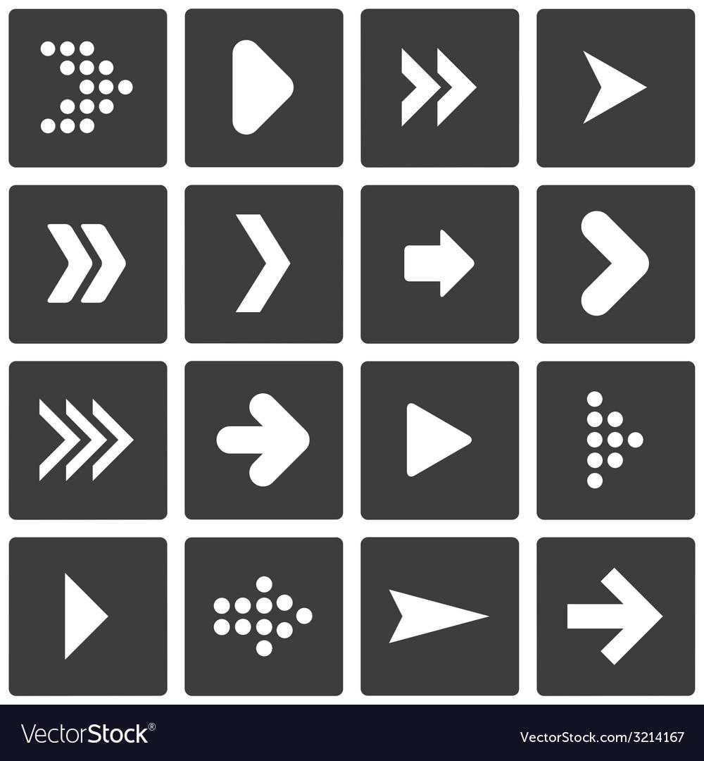 Set of stencil arrows vector | Price: 1 Credit (USD $1)