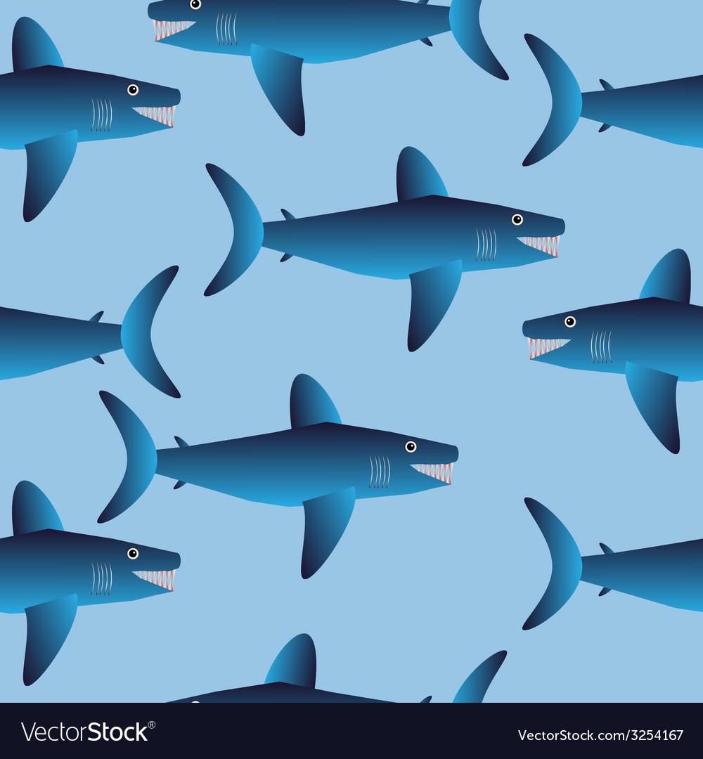 Shark seamless pattern vector | Price: 1 Credit (USD $1)
