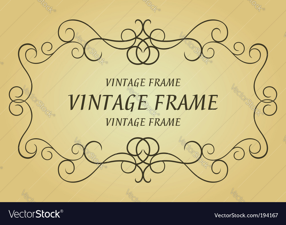 Swirl vintage frame vector | Price: 1 Credit (USD $1)