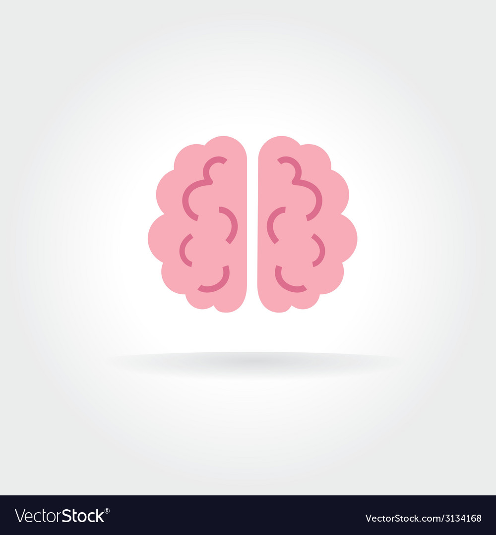 Abstract brain icon concept isolated on white vector | Price: 1 Credit (USD $1)