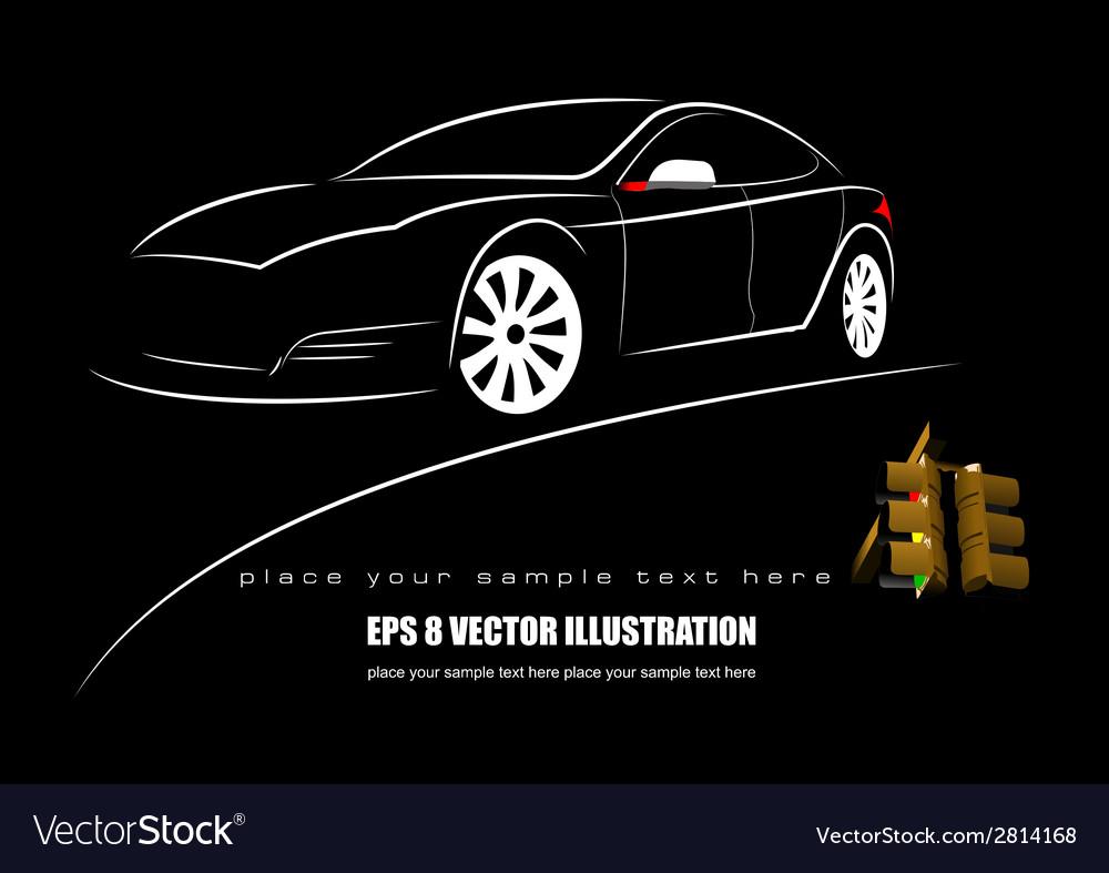 Al 1027 car vector