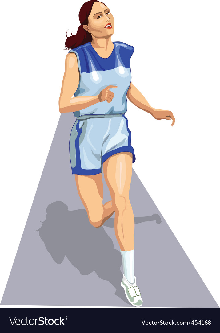 Athlete on track vector | Price: 1 Credit (USD $1)