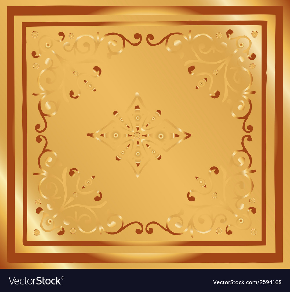 Background vintage style design abstract golden vector | Price: 1 Credit (USD $1)