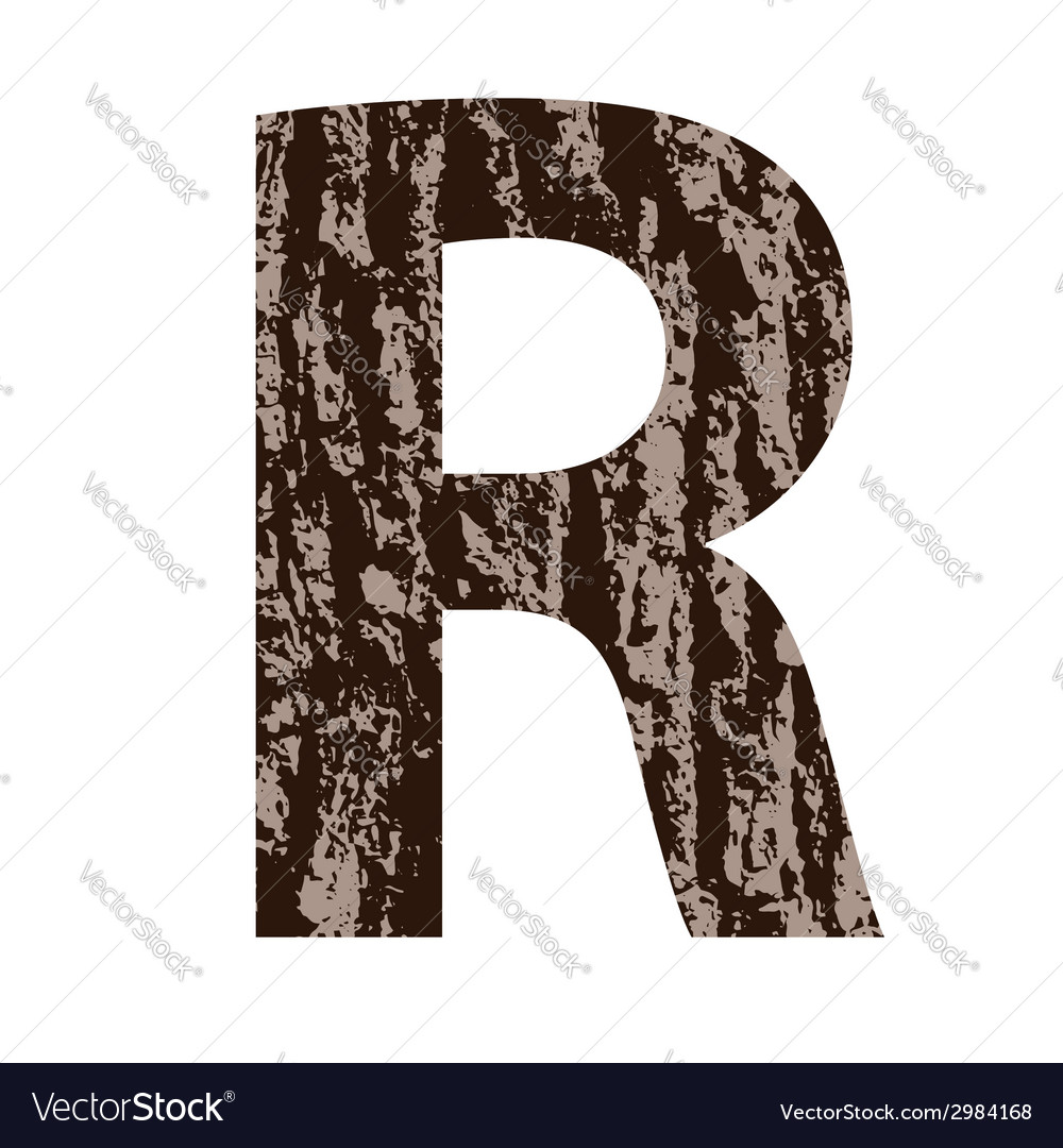 Bark letter r vector | Price: 1 Credit (USD $1)
