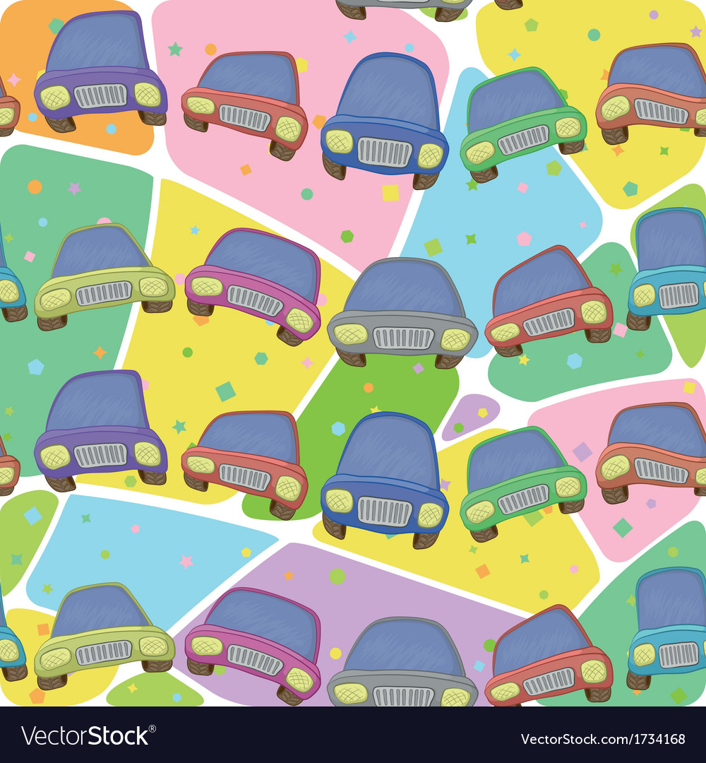 Cars and abstract pattern seamless vector | Price: 1 Credit (USD $1)