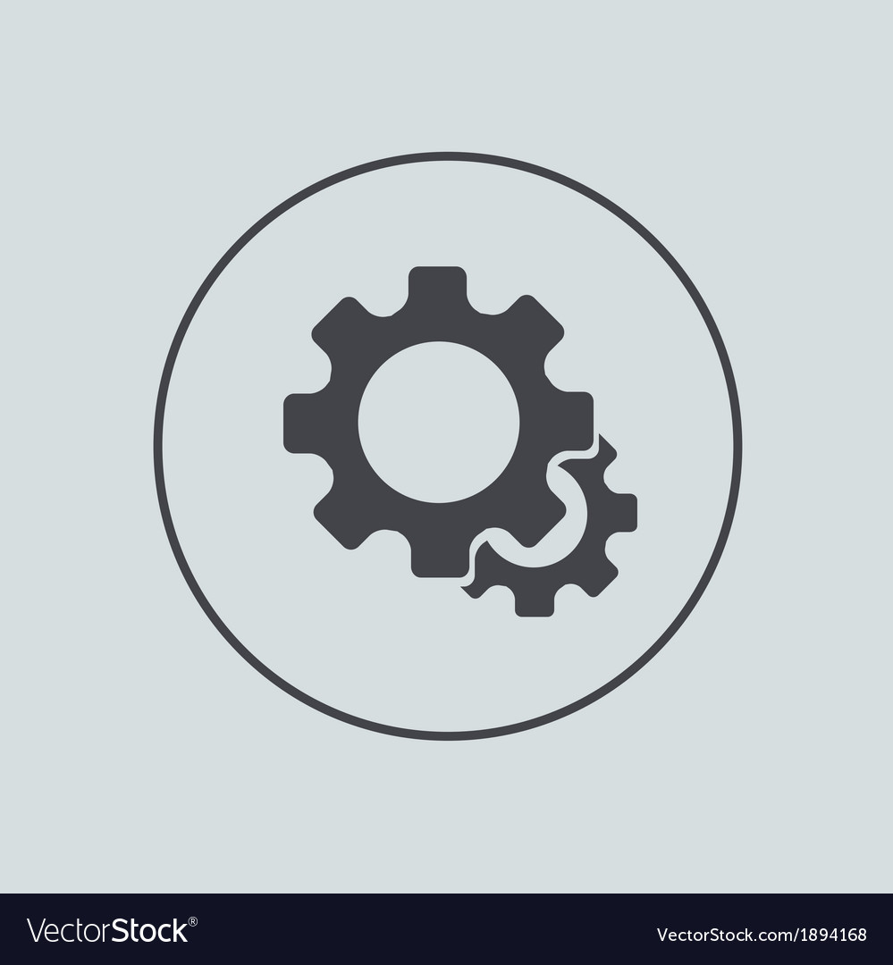 Circle icon on gray background eps 10 vector | Price: 1 Credit (USD $1)