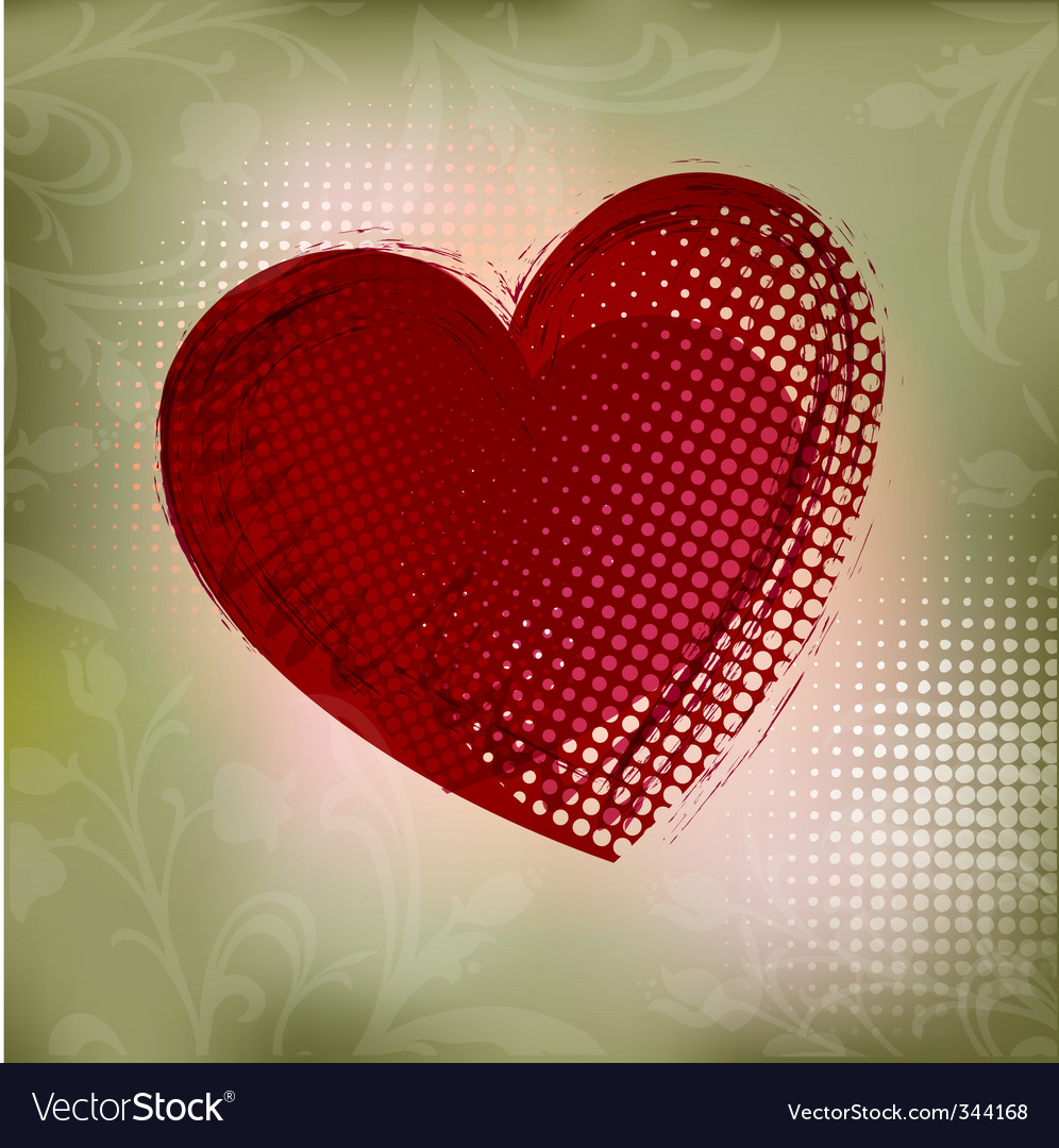Ct red heart vector ill vector | Price: 1 Credit (USD $1)