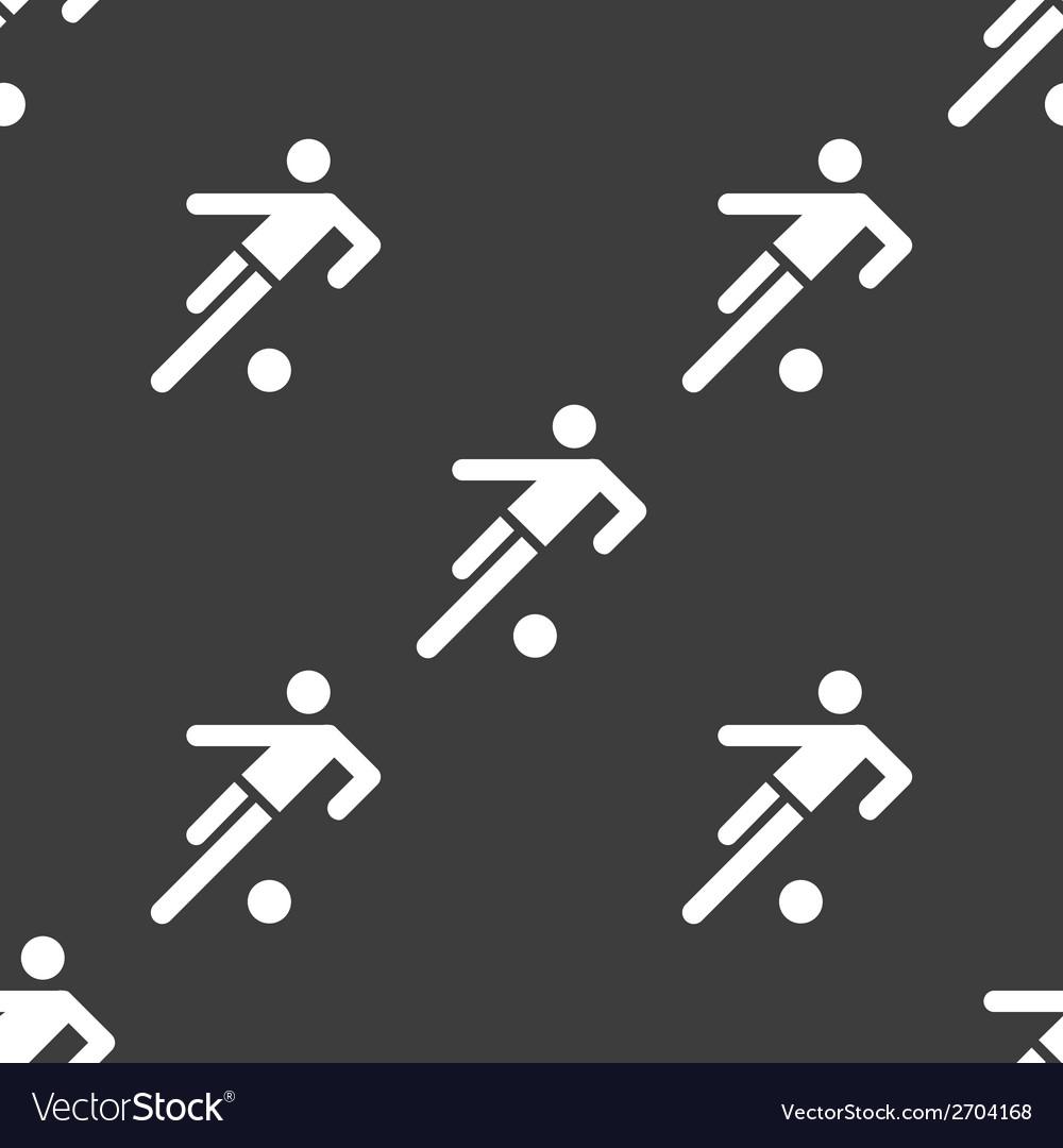 Football player web icon flat design seamless gray vector   Price: 1 Credit (USD $1)