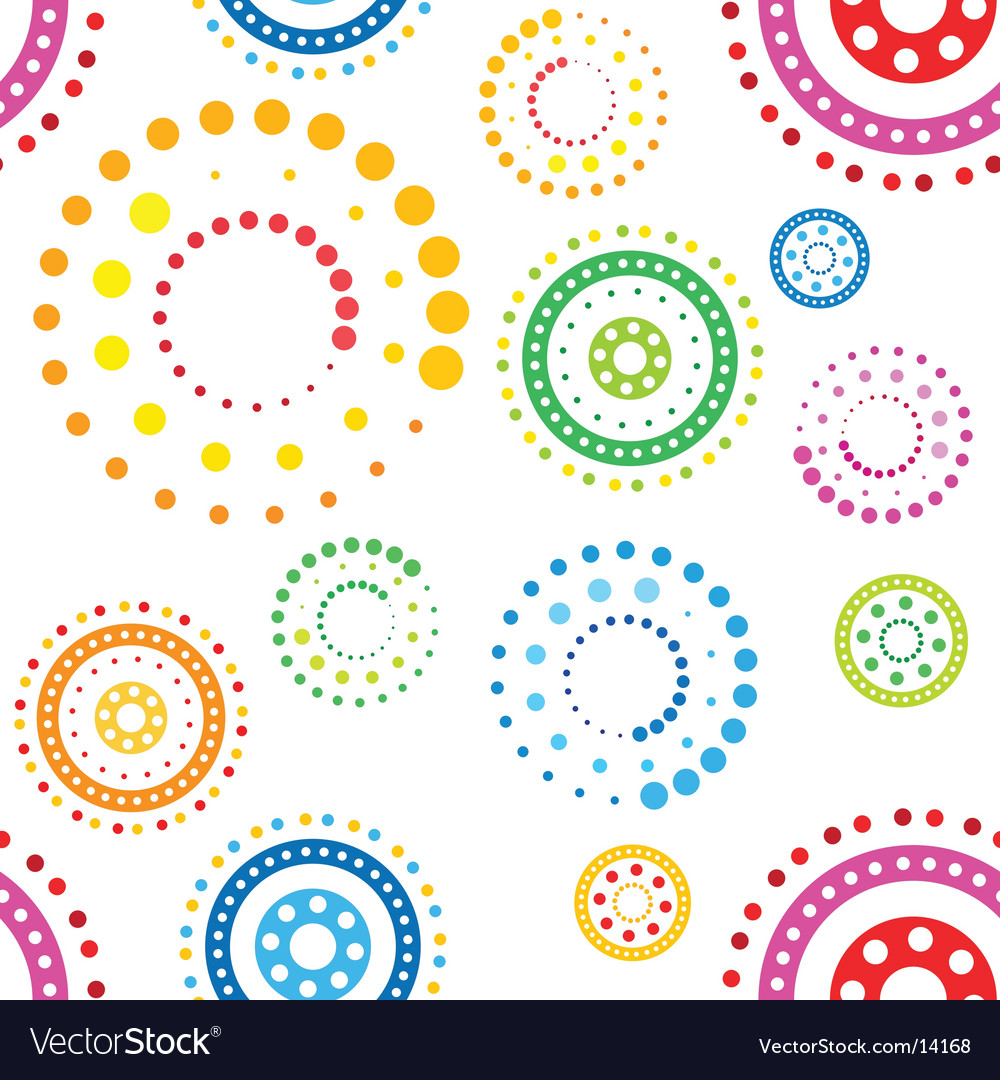 Funky circles pattern vector | Price: 1 Credit (USD $1)