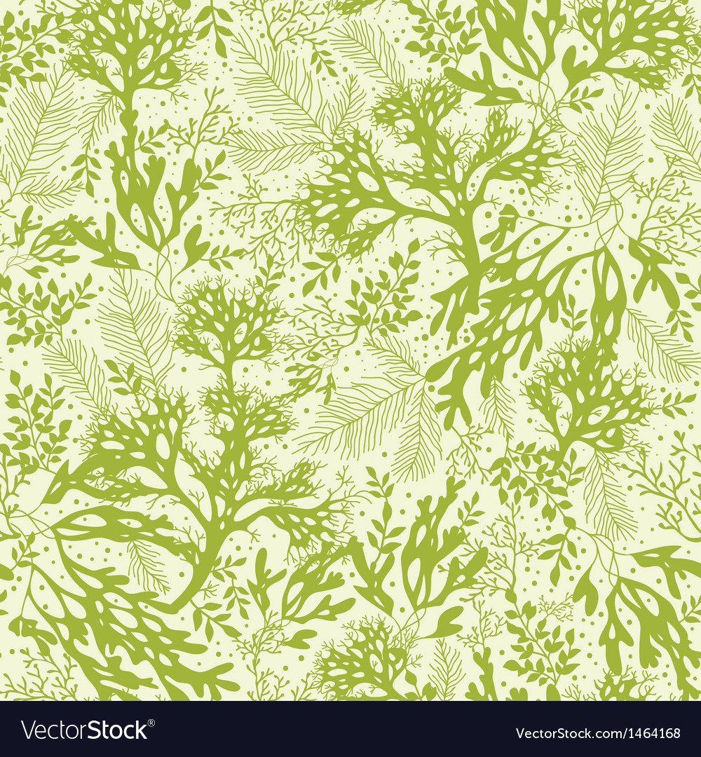 Green underwater seaweed seamless pattern vector | Price: 1 Credit (USD $1)