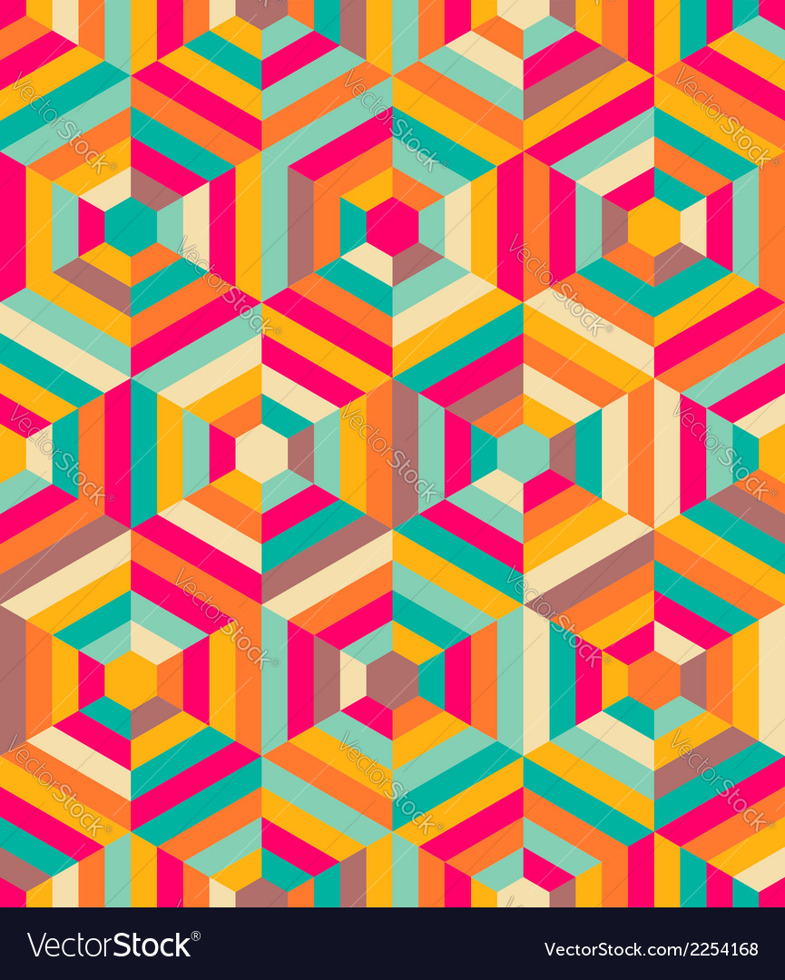 Hexagon mosaic pattern vector | Price: 1 Credit (USD $1)