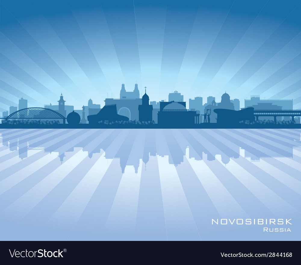Novosibirsk russia skyline city silhouette vector | Price: 1 Credit (USD $1)