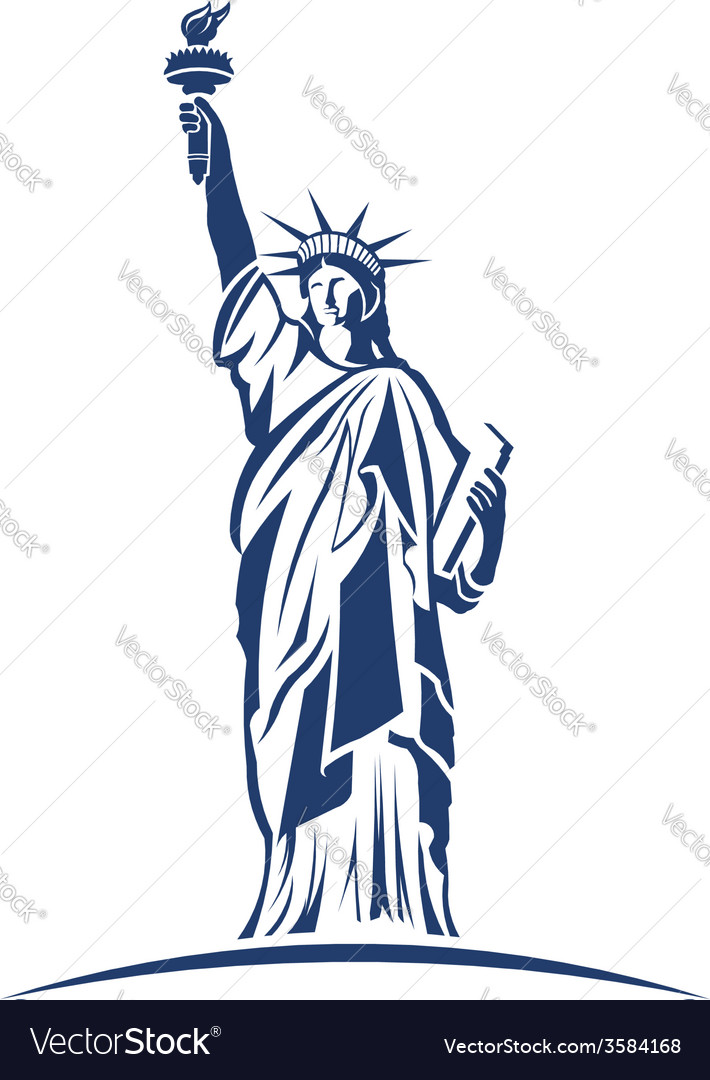 Statue of liberty image concept of freedom vector | Price: 1 Credit (USD $1)