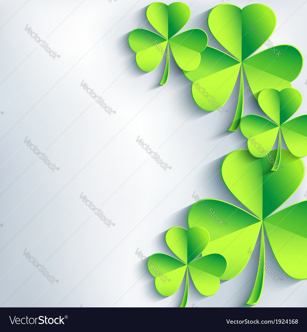 Stylish st patricks day card with leaf clover vector | Price: 1 Credit (USD $1)