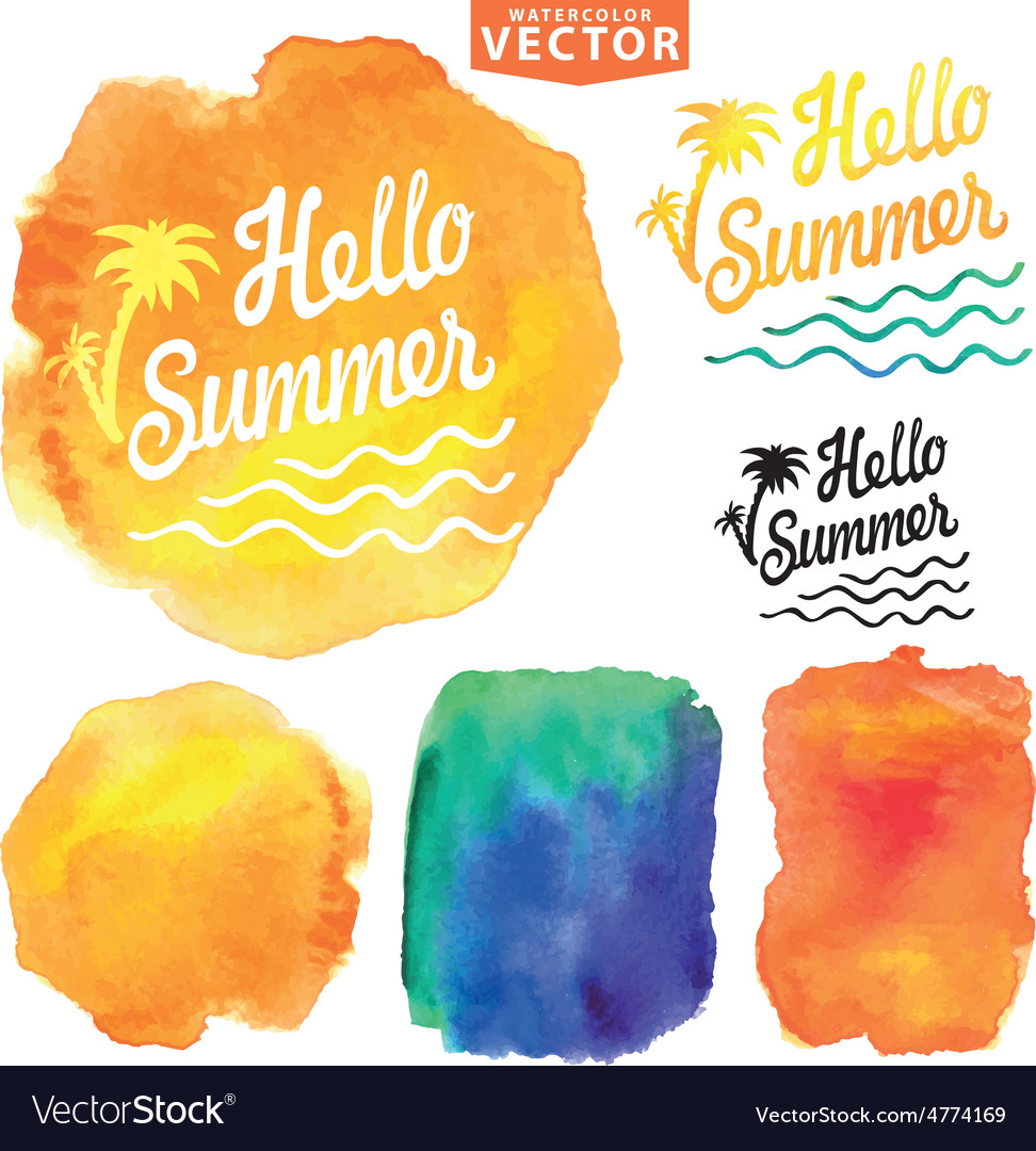 Abstract wtercolor backgroundsummer design vector | Price: 1 Credit (USD $1)