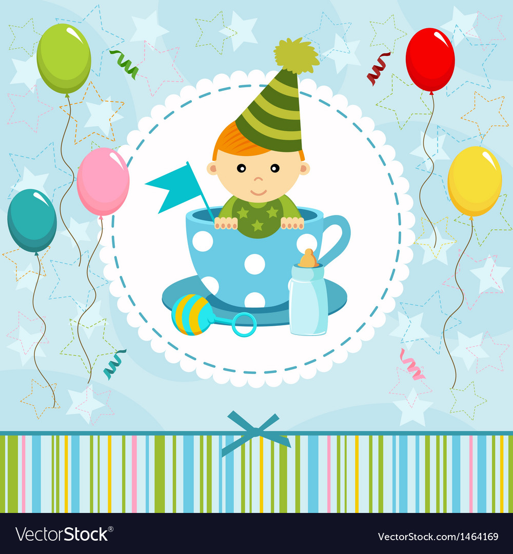 Baby boy in cup vector | Price: 1 Credit (USD $1)