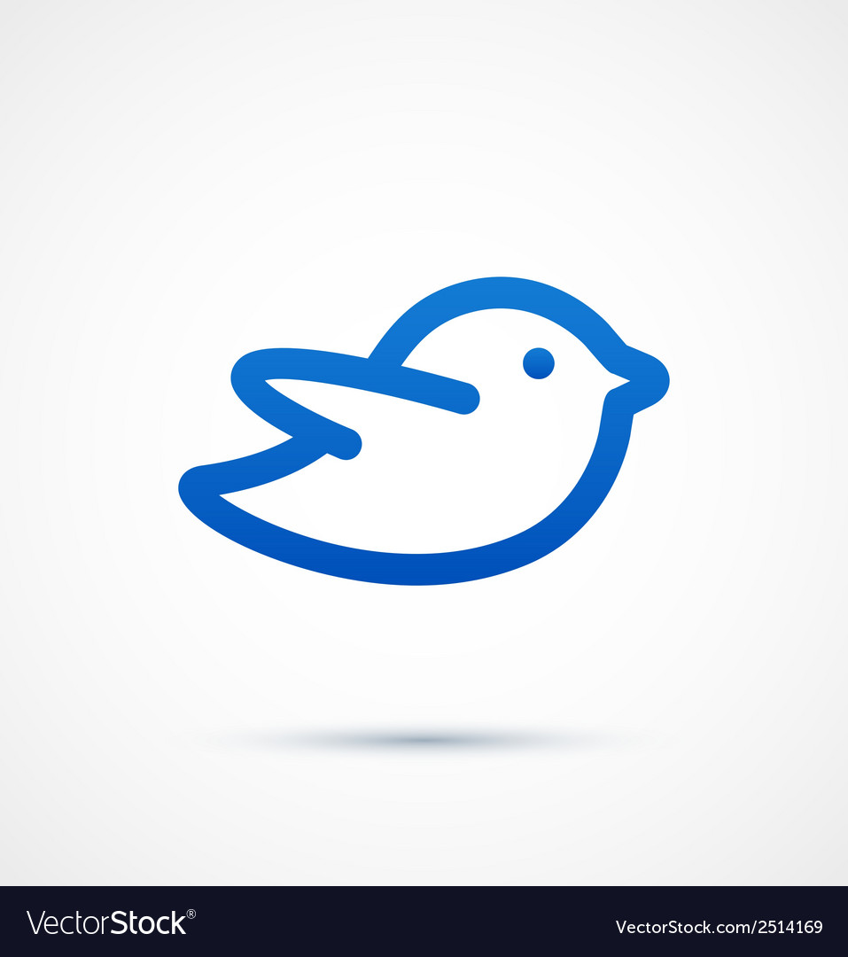 Blue twitter bird social media web icon vector | Price: 1 Credit (USD $1)