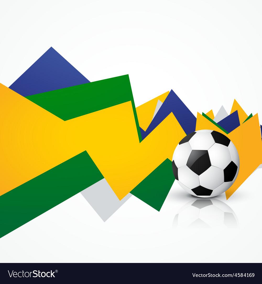 Brasil soocer game vector | Price: 1 Credit (USD $1)