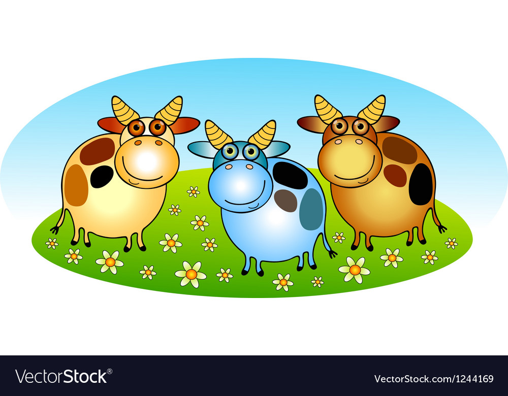 Cows vector | Price: 1 Credit (USD $1)