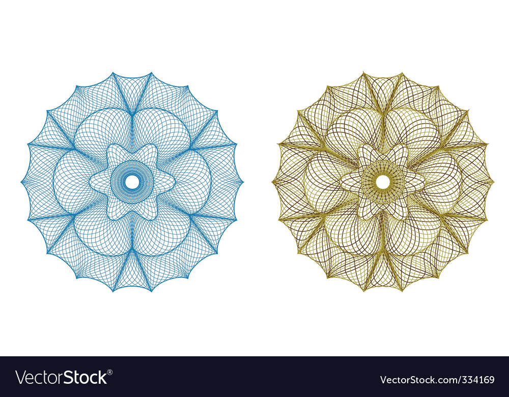 Guilloche pattern vector | Price: 1 Credit (USD $1)