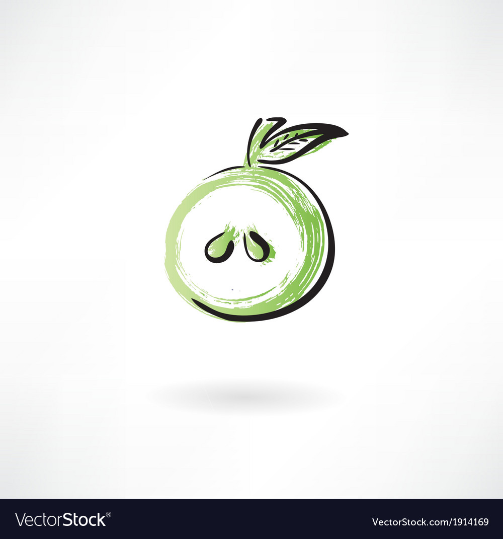 Half apple vector | Price: 1 Credit (USD $1)