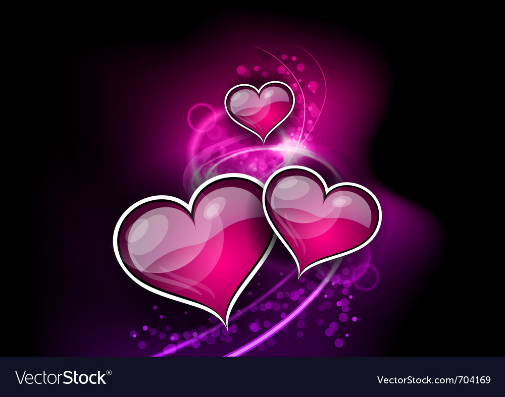 Hearts on the abstract background vector | Price: 1 Credit (USD $1)