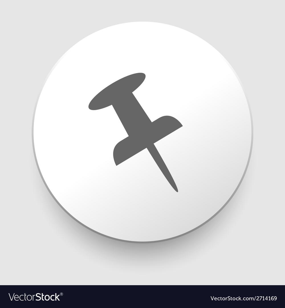Push pin icon vector | Price: 1 Credit (USD $1)