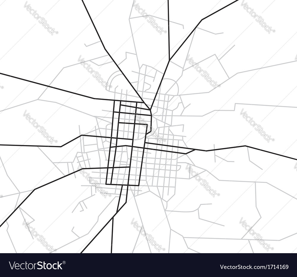 Scheme of streets - city map vector | Price: 1 Credit (USD $1)