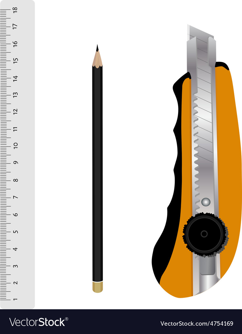 Stationery tools vector | Price: 1 Credit (USD $1)