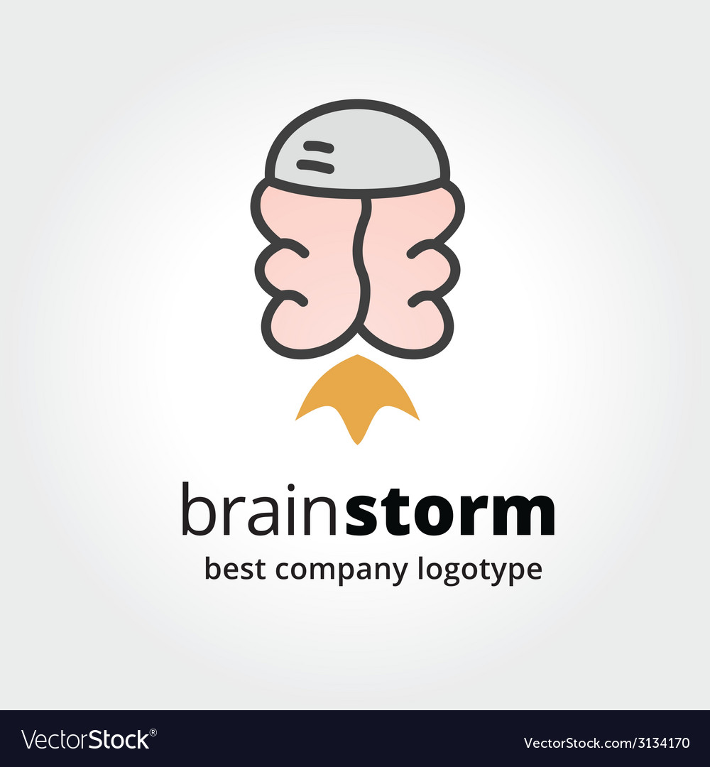 Abstract brain logo icon concept isolated on white vector | Price: 1 Credit (USD $1)