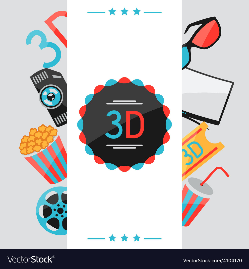 Background of movie elements and cinema icons vector | Price: 1 Credit (USD $1)