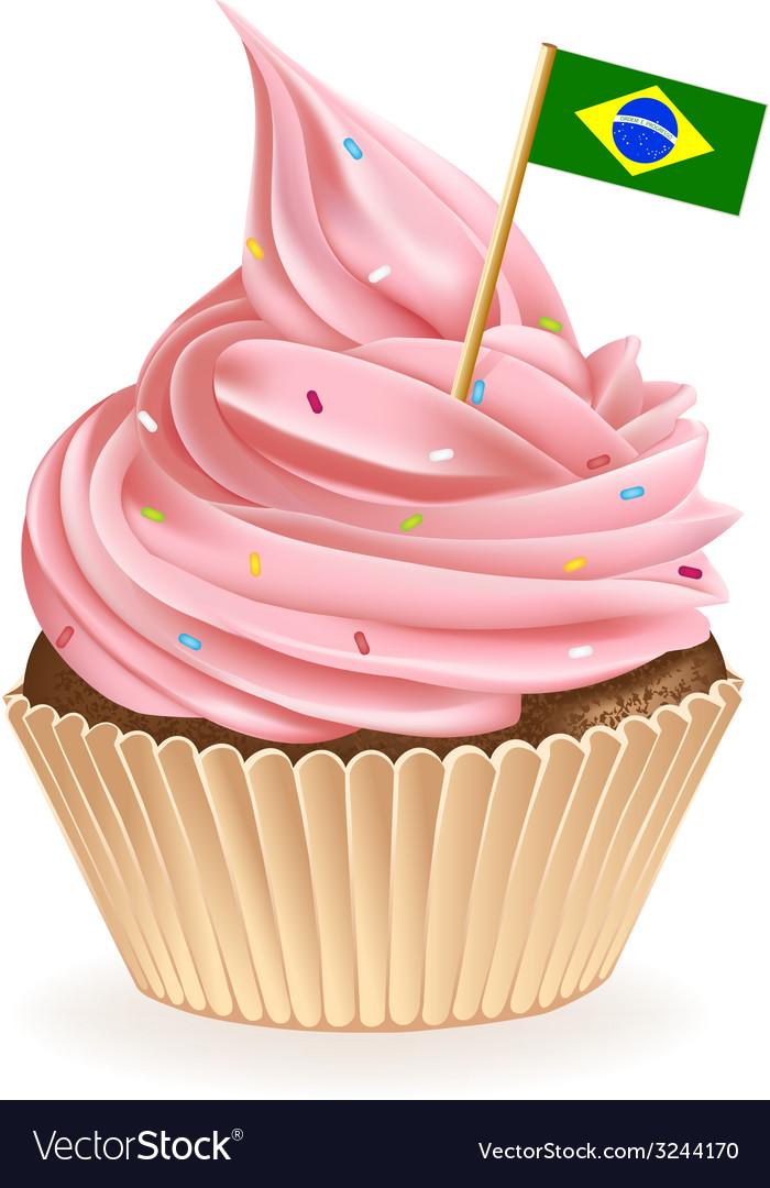 Brazilian cupcake vector | Price: 1 Credit (USD $1)
