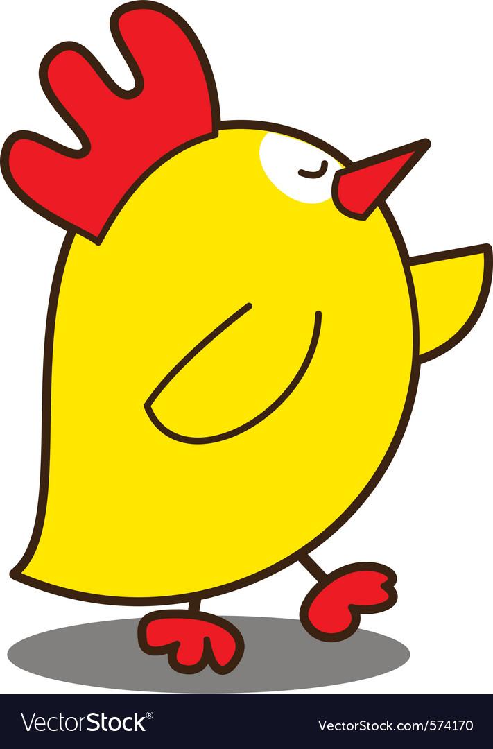 Cute chicken vector